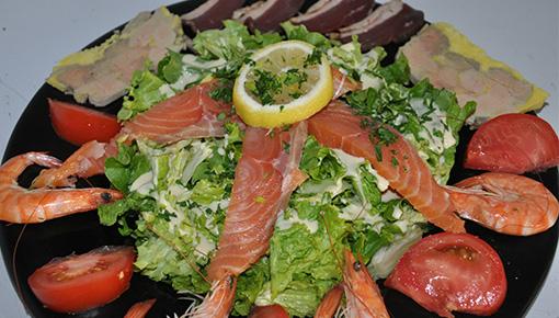 Grande salade terre et mer